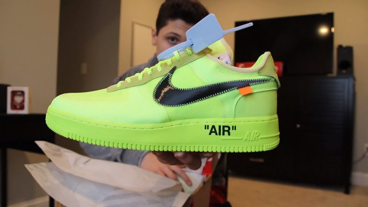 air force 1 verde fluo