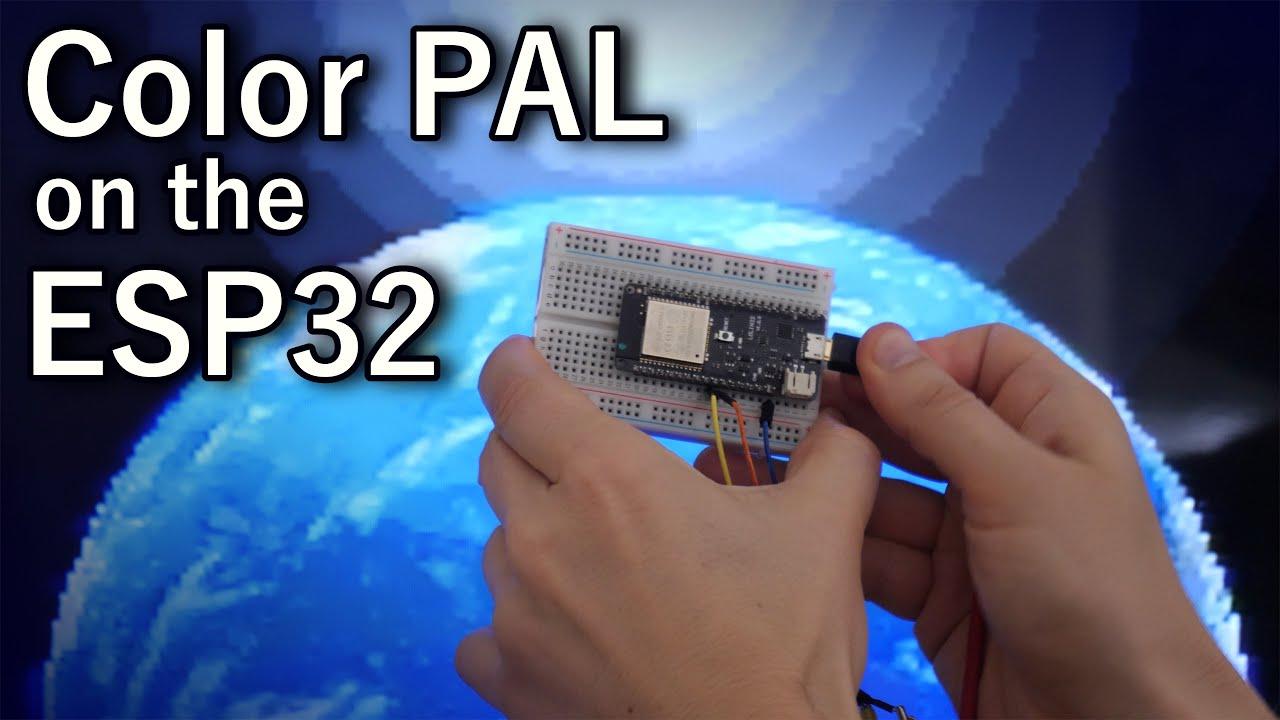 ESP32 Color PAL – bitluni's lab