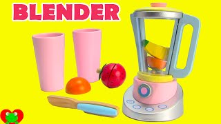 Velcro Toys Kitchen Blender and Fruits Learn Kitchen Words