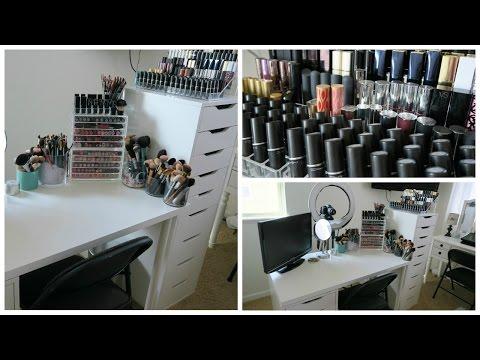 Makeup Collection 2016 | Organization & Room Tour