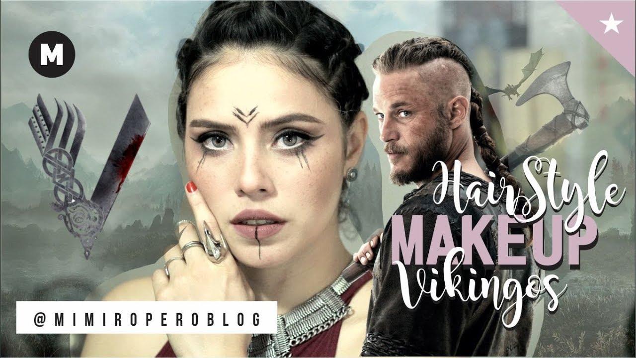 Maquillaje Y Peinado Para Cabello Corto Vikingos Vikings Makeup