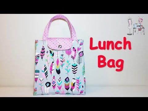 LUNCH BAG | LUNCH BAG IDEAS | REUSABLE LUNCH BAG | DIY BAG | BAG SEWING TUTORIAL | coudre un  sac