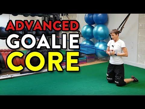 Advanced Goalie Core Training: Alt Knee Recovery + Pallof Dynamic