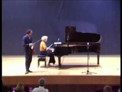 2º movimiento de la Sonata para violín y piano de César Franck. Marisa Blanes y Mario Hossen.