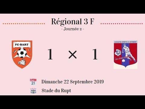 F.C.Bart F - A.S. Chèvremont F (1-1) - Résumé + Réaction