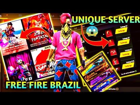 FREE FIRE BRAZIL SERVER REVIEW - A UNIQUE SERVER OF FREE FIRE -GB