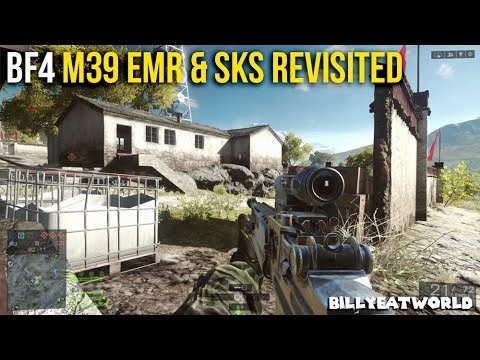 Battlefield 4 (PS4) - M39 EMR & SKS Revisited - Post Patch Weapon Review  (BF4 Gameplay)
