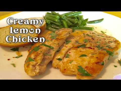 Creamy Lemon Chicken ~ Thirty Minutes In One Pan