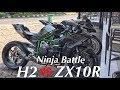 #25 Ninja H2 VS ZX10R Di Madura | Indo250up