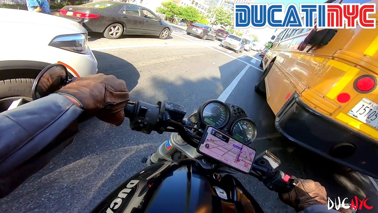 spicy + rapid manhattan to brooklyn NYC ride - i'm a nice person - ducati nyc vlog v1464