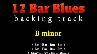 Slow blues backing track in B minor for guitar solo (12 bar blues)