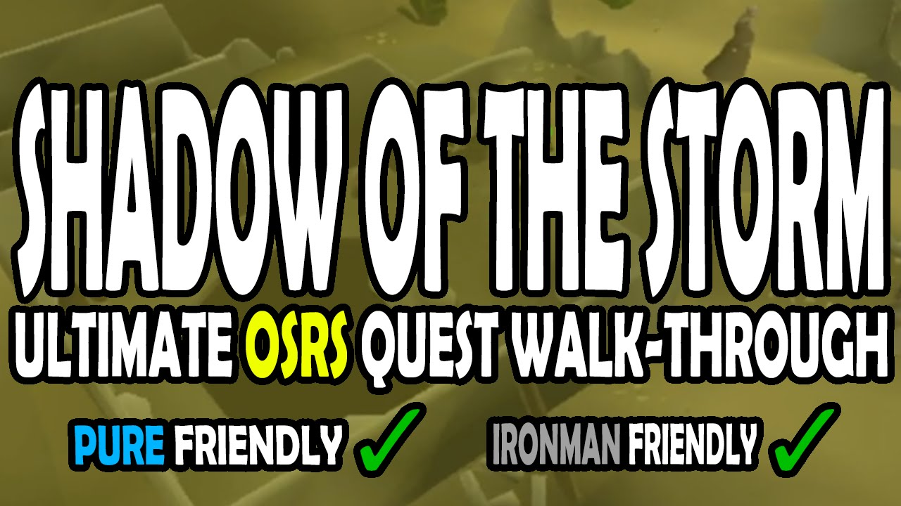 Black gloves osrs -  Osrs Shadow Of The Storm Quest Guide For Pures On Old School Runescape Youtube