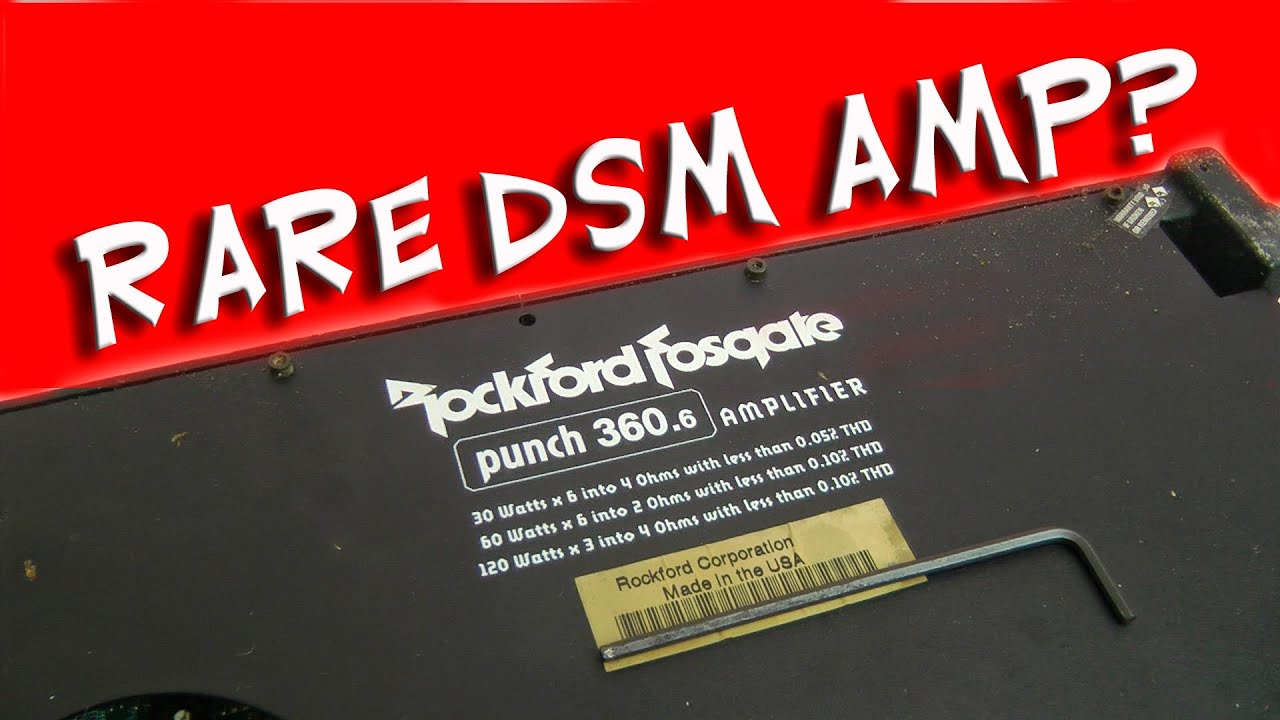 Rockford Fosgate Punch 360 6 Dsm Amp Rare Prototype By Bigdwiz 1000w 4 Ch Audio Car Amplifier Channel 4gauge Wire Kit Ebay