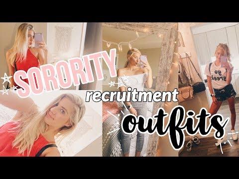 Sorority Recruitment OUTFITS! + my sorority reveal!!