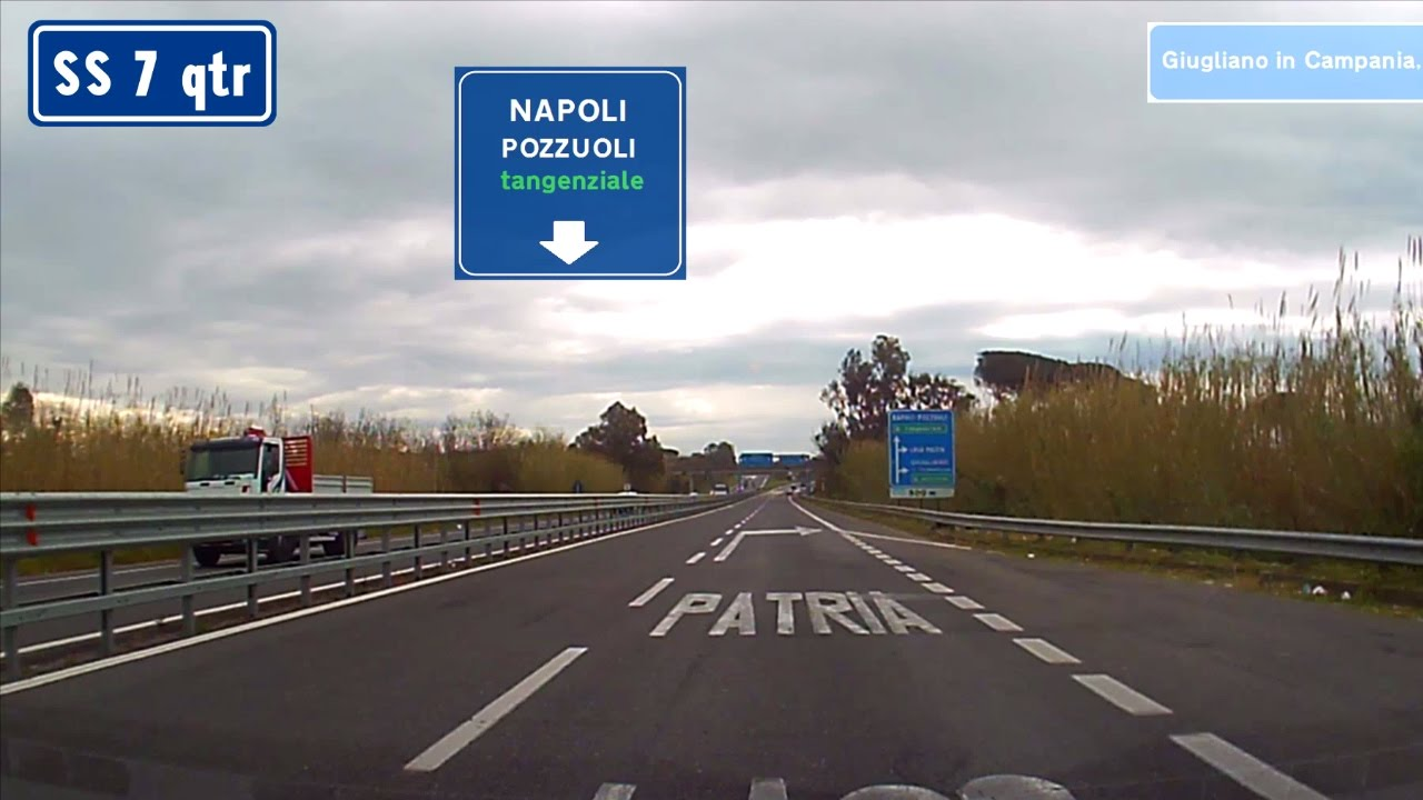 Driving from Castel Volturno (Caserta) to Napoli (northern suburbs ...