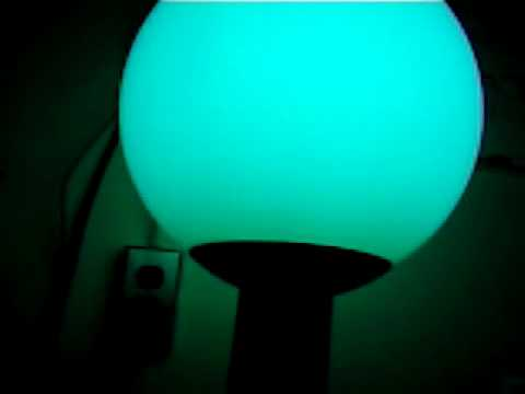 Mercury Vapor 100 Watt Tabletop Globe Fixture Firing Up With Clear Lamp