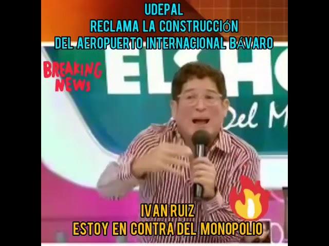 Iván Ruiz dice que está en desacuerdo con el monopolio que afecta la construcción del Aeropuerto Int