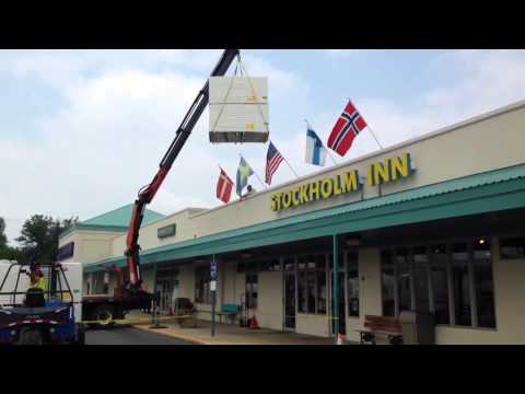 Rockford Plaza Roofing project. Loading Swedish American Clinic / Stockholm Inn portion. $1.5 mil