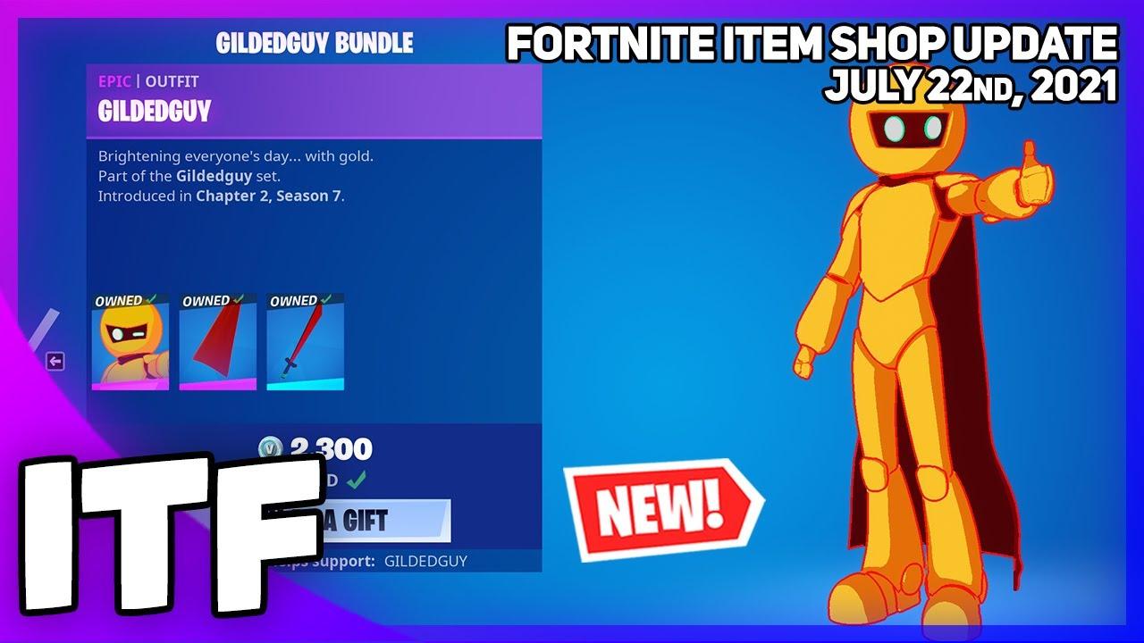 Fortnite Item Shop *NEW* GILDEDGUY BUNDLE! [July 22nd, 2021](Fortnite Battle Royale)