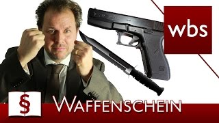 Jura Basics: Kleiner Waffenschein - Voraussetzungen und Verbote | Rechtsanwalt Christian Solmecke