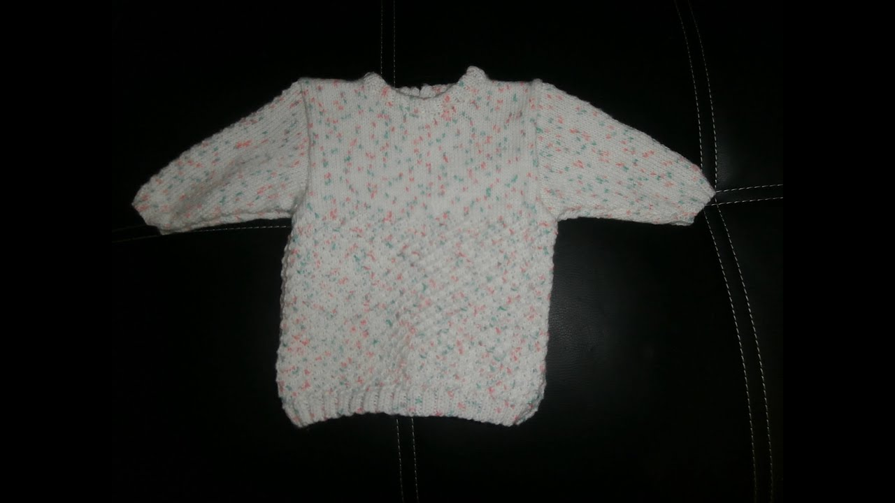tuto tricot layette tunique b b 3 mois explications pendant le diaporama youtube. Black Bedroom Furniture Sets. Home Design Ideas