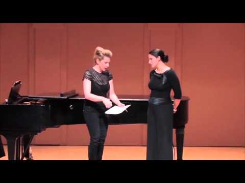 Shepherd School of Music Master Class with Joyce DiDonato - Allegra DeVita, mezzo-soprano