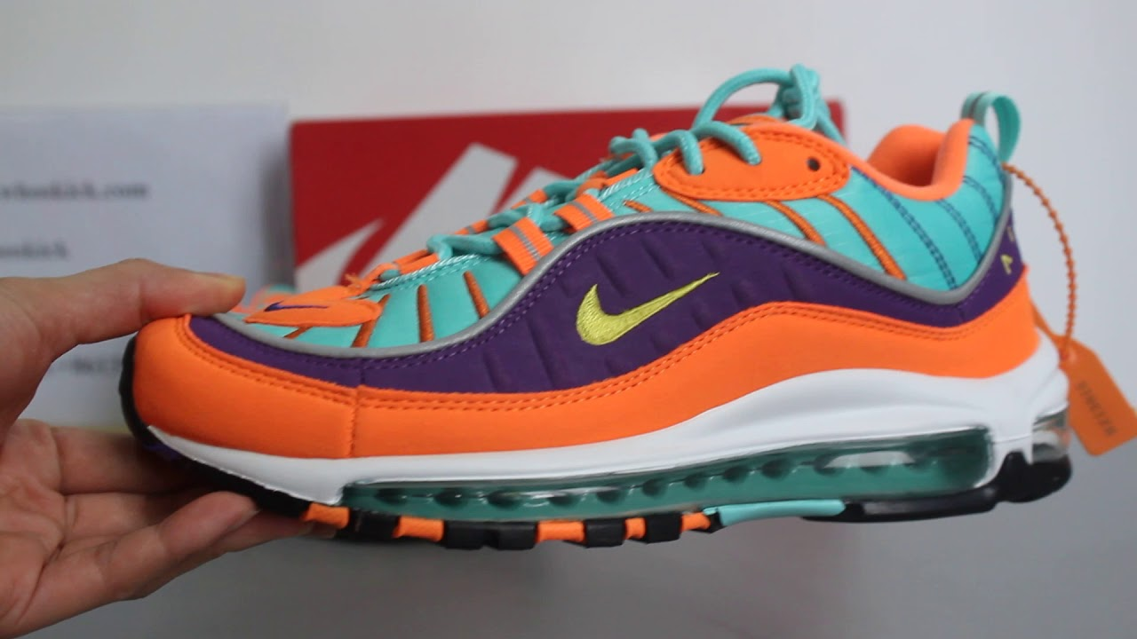 a7ab07385e71 Nike Air Max 98 QS Cone Review ! - YouTube