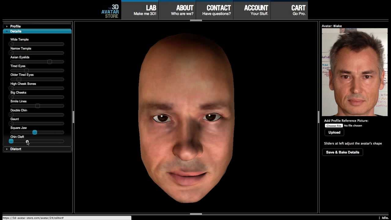 Auto 3d Avatar Creation Demo Youtube