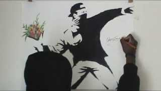 Drawing Banksy