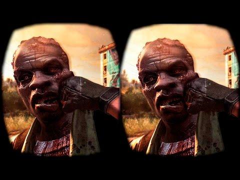Dying Light in SBS 3D - Google Cardboard - Oculus Rift Pt.2