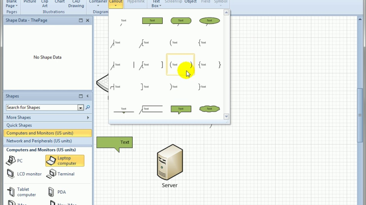 visio shape for callouts