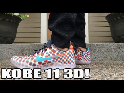 best website 46904 fd073 Super Slept On! Nike Air Kobe 11  3D  On Feet Review - YouTube