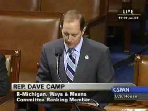 Ranking Member Camp Floor Remarks Against the Death Tax