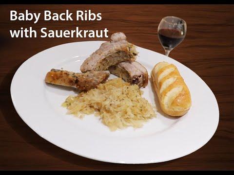 Baby Back Ribs With Sauerkraut