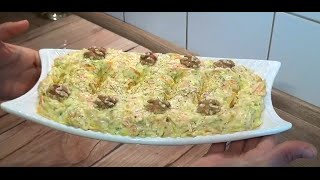 Yogurtlu kabakli havuclu salata(meze)