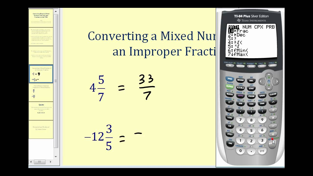 writing improper fractions as mixed numbers Fill in the missing number to make two equivalent fractions mixed numbers and improper fractions multiple choice: circle the correct improper fraction for the.