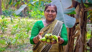 Vegetable Recipe: Green Banana Fried Recipe in Village Food Factory