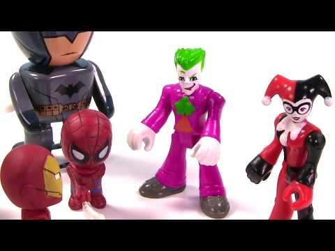 Marvel & DC Comics SUPERHEROES Toy Surprise Blind Box Show! Spiderman, Batman - Stop Motion IRL