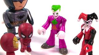 Marvel & DC Comics SUPERHEROES Toy Surprise Blind Box Show! Spiderman, Batman - Stop Motion IRL
