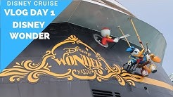 Disney Wonder VLOG Day 1  / NEW SAIL A WAVE PARTY