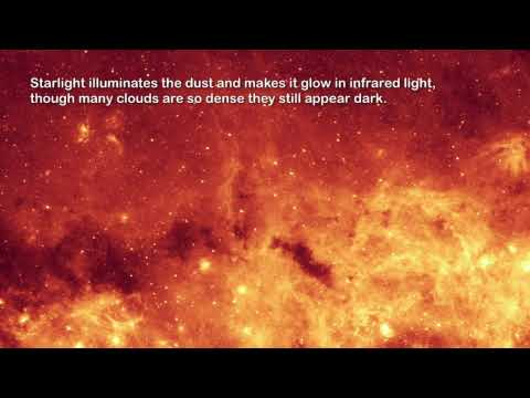 Milky Way Galaxy Center in Infrared (2006.01.10) [720p]