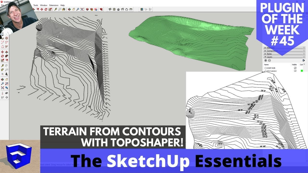 Creating Terrain in SketchUp from Contours with Toposhaper