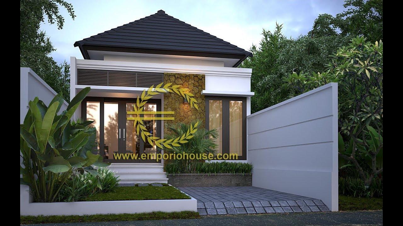Paket Desain Rumah 1 Lantai 3 Kamar Tidur Lebar Depan 6 M By Emporio Architect Youtube