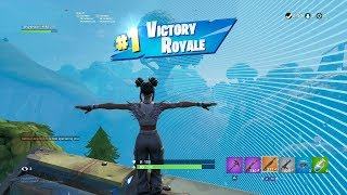 "FORTNITE First Win with ""LUXE"" BACK BLING (""HIGH CALIBER"" GAMEPLAY) SEASON 8 BATTLE PASS Showcase"