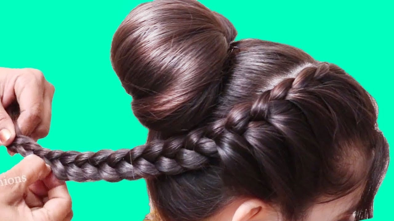 Updo Top Braid Hairstyle for Girls || Hair Style Girls || Latest Hairstyle 2020