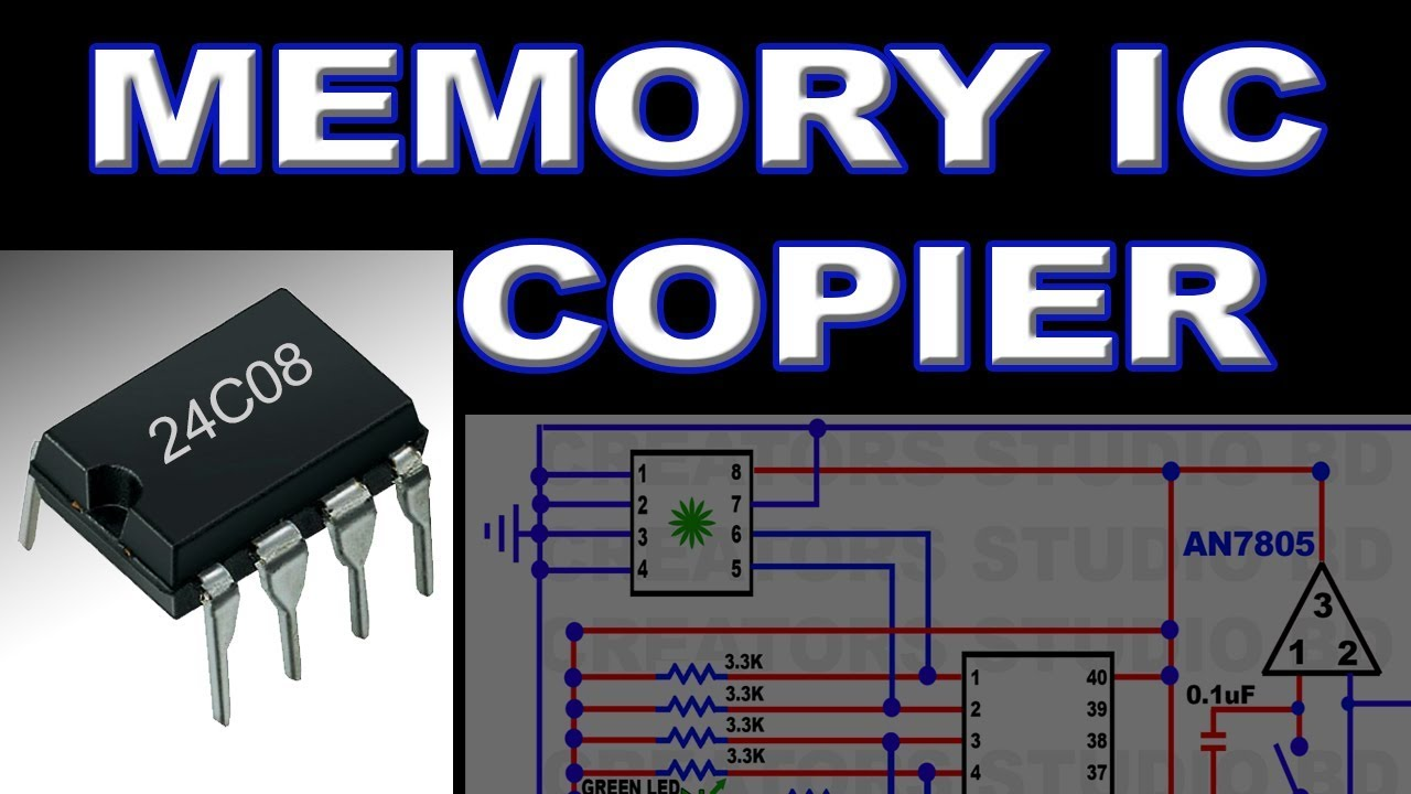 24c08 how to make tv memory ic copier using microcontroller eeprom programmer circuit diagram [ 1280 x 720 Pixel ]