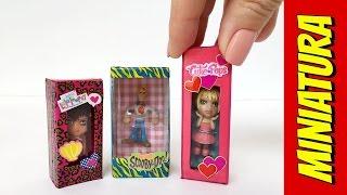 como fazer mini caixa de brinquedo boneca para barbie e outras bonecas