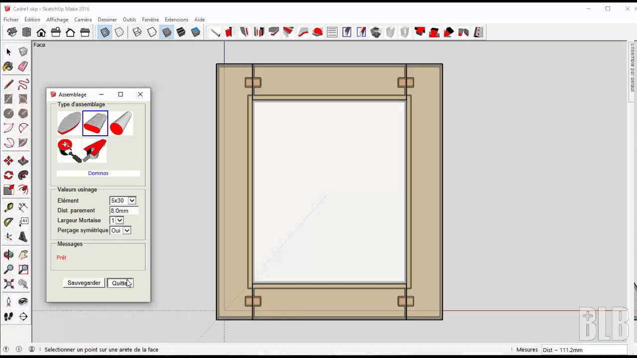 Tuto sketchup le plugin fiche de d bit version 2 0 for Outil miroir sketchup