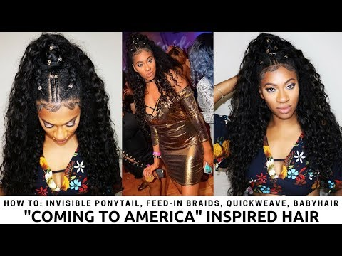 Feed In Braids, Quick Weave, Invisible Ponytail 2018