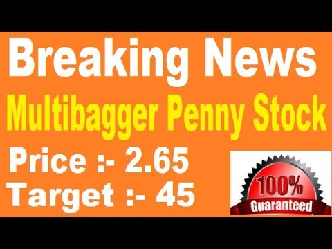 Multibagger PENNY STOCK = 5000% Profit  || best stock for 2018